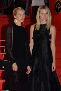 Rachael Taylor and Isabel Lucas (left) promoting 'The Loft' in Belgium last month